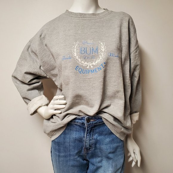 oversized grey vintage shirt with embroidered stars  snowflakes size M